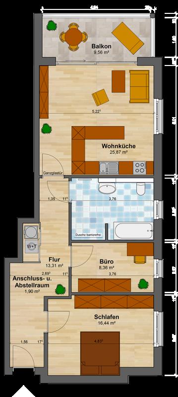 2 12 Zimmer Wohnung Preußenstraße Lippstadt 1 Og Rechts Mieten
